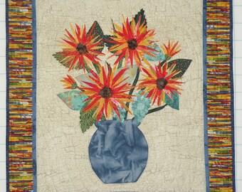 Flower Applique Wall Quilt