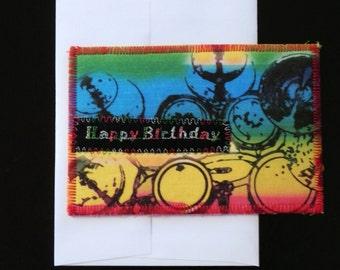 Drummer Happy Birthday Card