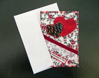 Valentine's Hearts Duo Quilted Card