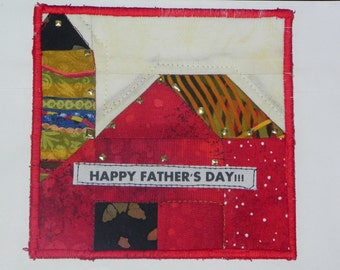 Father's Day Quilted Barn Card