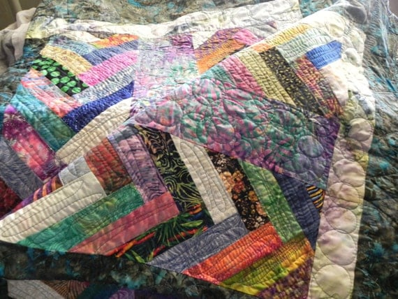 Contemporary French Braid Lap Quilt