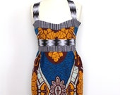 African Print Tailored Tulip Dress