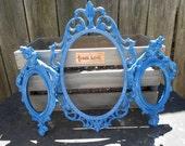 Fun Funky Blueberry Oval Ornate Frame Set
