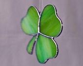 Special Order  for Sarah Streaky Light Green Shamrock Suncatcher  Shamrock 8