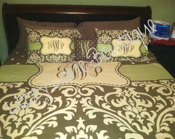 Custom Personalized Monogrammed Duvet OR Comforter SET (Twin, Full/Queen, or King)