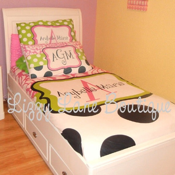 Custom Personalized Monogrammed Duvet Cover OR Comforter (Twin, Full/Queen, or King)