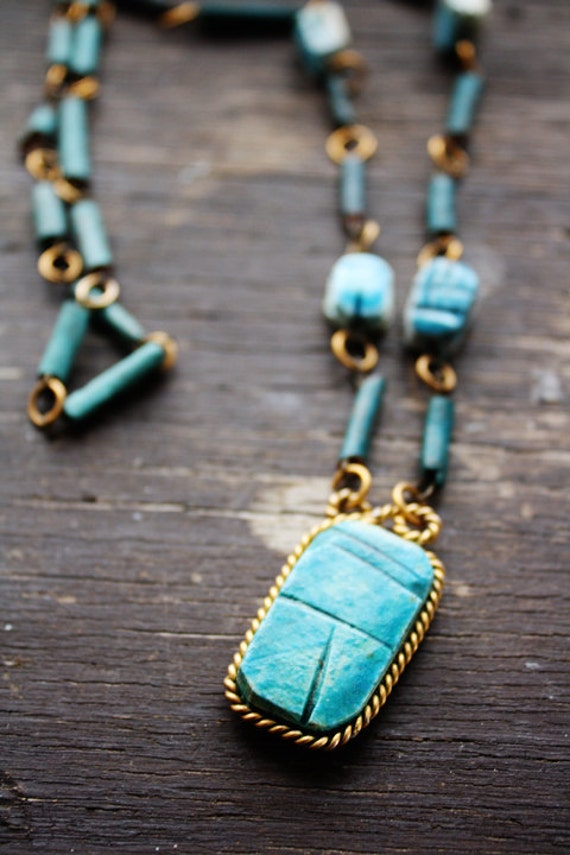 Scarab Beetle Necklace, 1960s