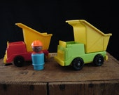 Vintage Fisher Price Little People Construction Equipment