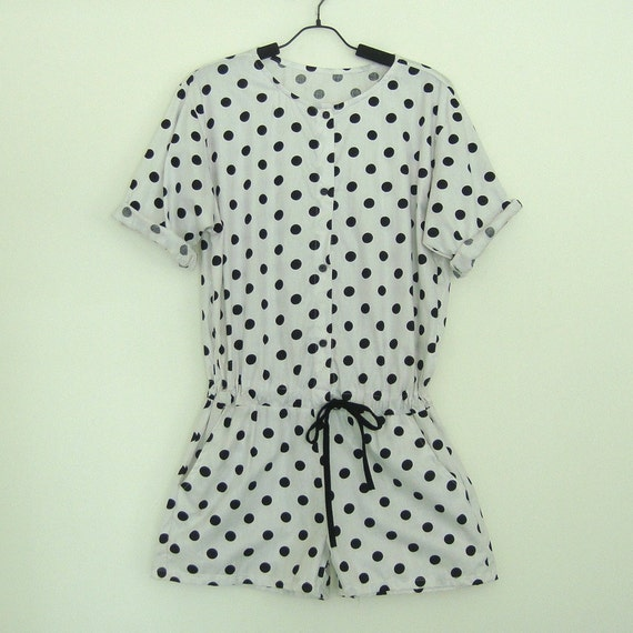 It's all right - Dot Shorts Jumpsuit-Dalmatian