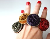 Ring for the boho girl made of repurposed Nespresso coffee capsules