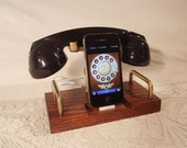 iPhone Dock - Phone - iPod Dock - Phone - Charger and Sync Station - Bluetooth Headset - Oak - Wireless Headset  Docking Station iPhone4