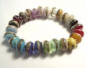 Rainbow Lampwork Beaded Bracelet