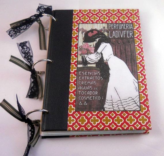 Altered Art Journal with Reader's Digest Book Covers: Art Nouveau Vintage Ephemera Notebook