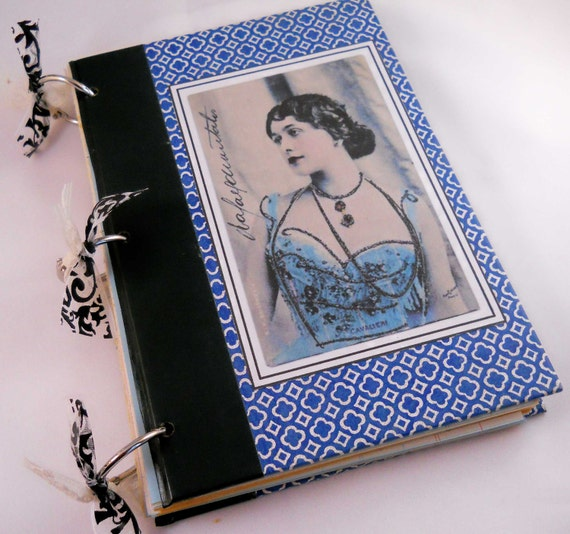 Altered Art Journal with Reader's Digest Book Covers: Lina Cavalieri Vintage Ephemera Notebook