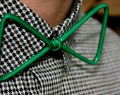 Thin Green Wire Bow-Tie