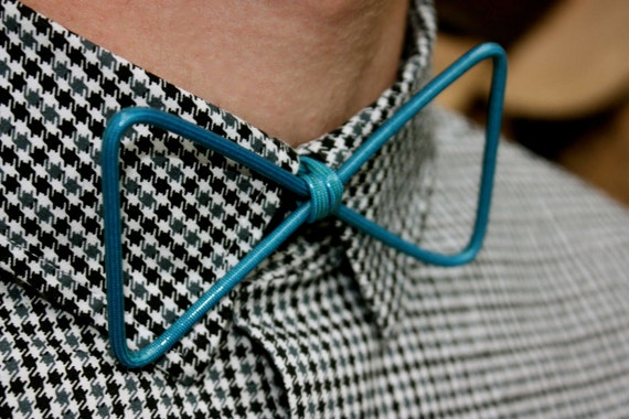 Thin Blue Wire Bow-Tie