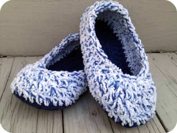 Crochet Fuzzy Cloud Fleece Slippers - VEGAN - Made to Order