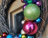 18in. Outdoor Christmas Decor Wreath