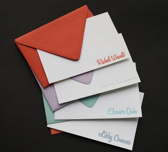 Fifty Custom Letterpress Stationery Cards
