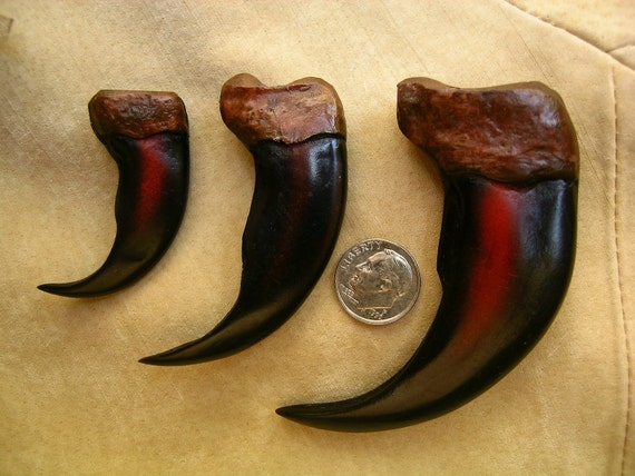 Wholesale Lot of 5 each 4 inch Reproduction Grizzly Bear Claws