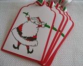 Santa Christmas Tags/Labels - Set of 5