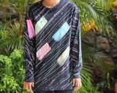 Vintage Splatter Paint Long Sleeve T-Shirt