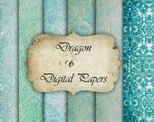 Dragon- Digital Paper for Scrapbooks, graphics, decoration, backgrounds, invitation