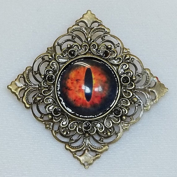 SALE PRICE Eye of Sauron Square Filigree Pin