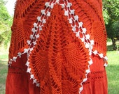 SOLD -  Tiger lily doily skirt  Beautiful burnt orange