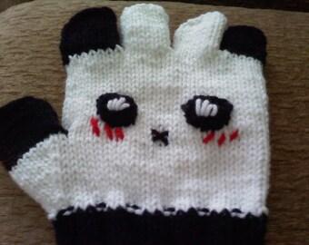 Made to Order Adorable Panda Gloves