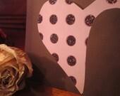 Polka Dot Pocket Heart Card or Invitation