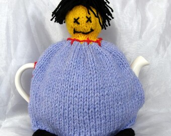 One of Victor Frankenstein's Tea Cosies - Lilac and Yellow