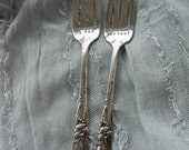 Custom Date Stamped Wedding Fork Set