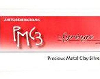 9g Mitsubishi PMC3 Precious Metal Clay Syringe - Fine Silver