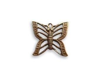 Vintaj Filigree Butterfly Charm 14x13mm (2)
