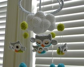 Owl crochet Mobile