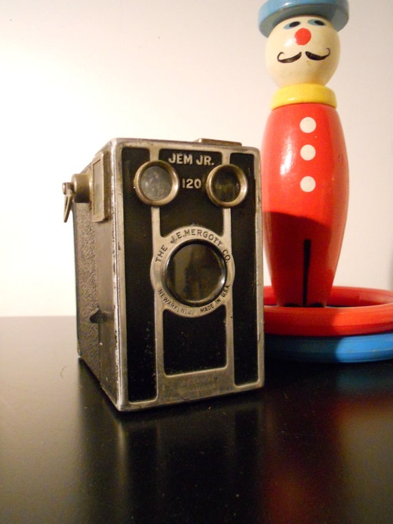 Vintage Camera JE Mergott Jem Jr 120 Mid Century Photographer Gift Antique