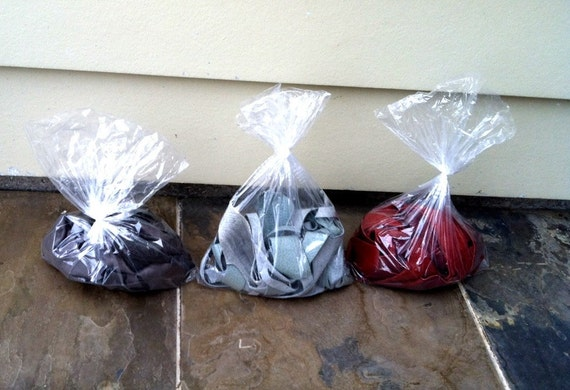 Scrap Leather - Blue, Red, Gray