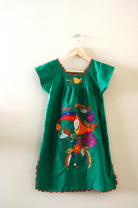 Nicaragua vintage 70s tropical mini dress