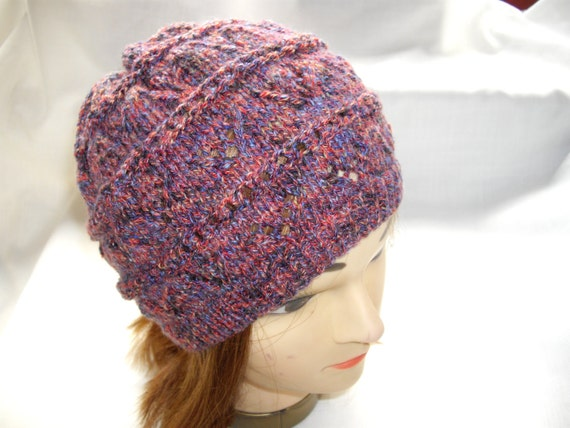 Rust and Blue Fleck Hat
