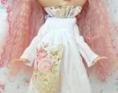 Lovely Short Vintage Linen Dress for Blythe