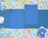 Bath Time Premade 12x12 Scrapbook Pages