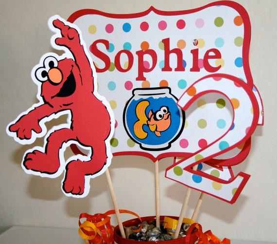 Elmo Birthday Centerpiece Cutouts