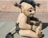 Stig, OOAK Danish Troll Fantasy Soft Sculpture Art Doll