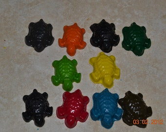 Recycled Crayon Party Favor - Turtle 8 count