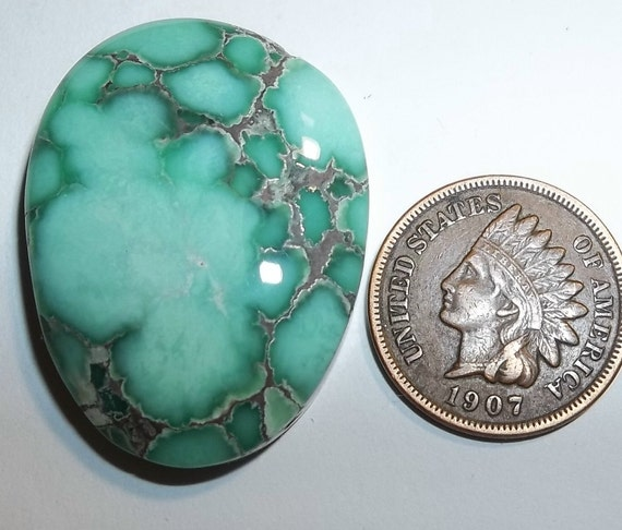 Damele Turquoise Cab 42cts MINT CHOCOLATE
