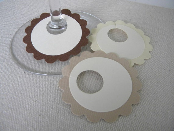 thanksgiving wine charms paper wine tags by poshpartycharms