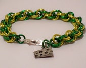 Green and Gold Green Bay Bracelet