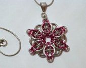 Celtic Visions Pink and Silver Necklace