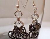 Silver Fade Fuchsia Earrings